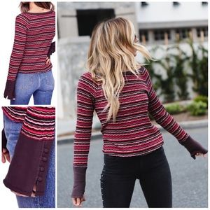Free People Donna Striped Top